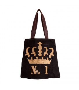 BOLSO TOTE BLACK CROWN